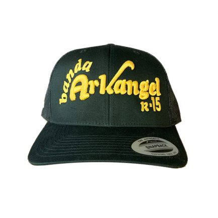 Arkangel Black with Yellow Logo Yupoong Hat - Front
