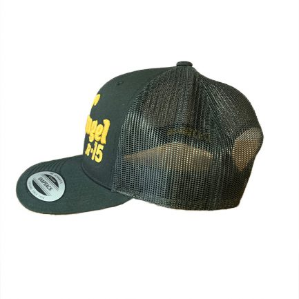 Arkangel Black with Yellow Logo Yupoong Hat - Side