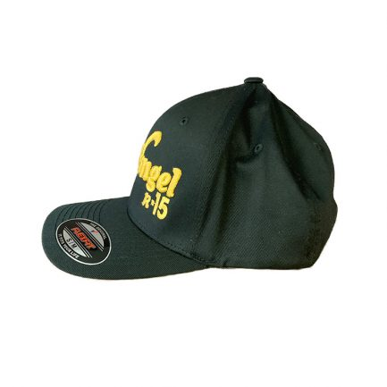 Arkangel Black with Yellow Logo Flexfit Hat - Side