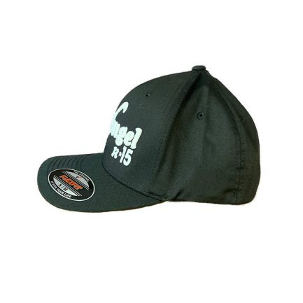 Arkangel Black with White Logo Flexfit Hat - Side