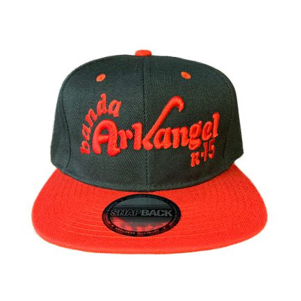 Arkangel Black and Red with Red Logo Snapback