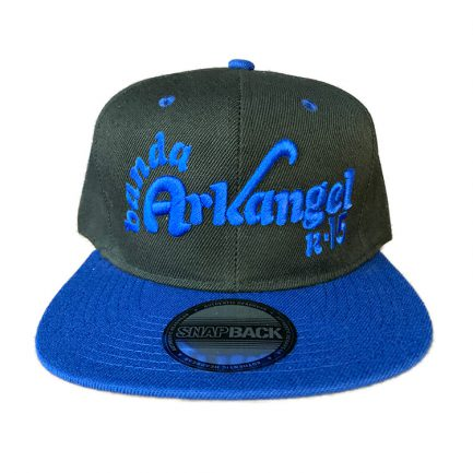 Arkangel Black and Blue with Blue Logo Snapback