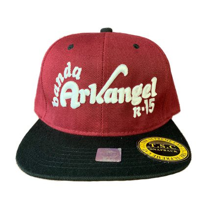 Arkangel Burgundy and Black with White Logo Snapback