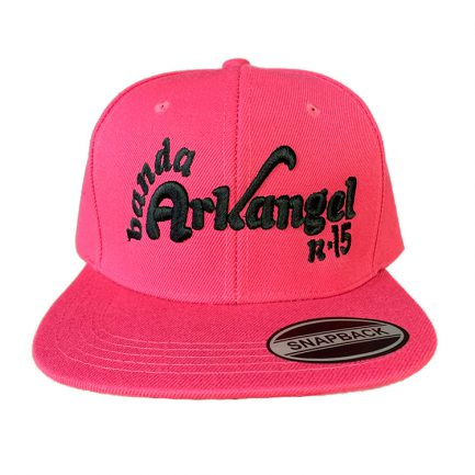 Arkangel Pink with Black Logo Snapback Hat